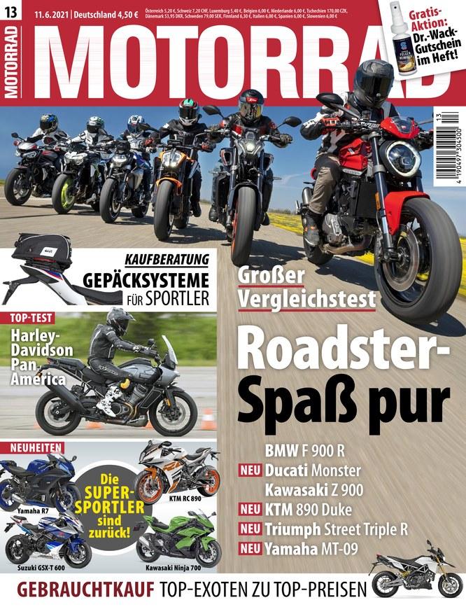 Motorrad Halbjahres-Abo (13 Ausgaben) für 55 € mit 40 € Amazon-Gutschein (Kein Werber nötig)
