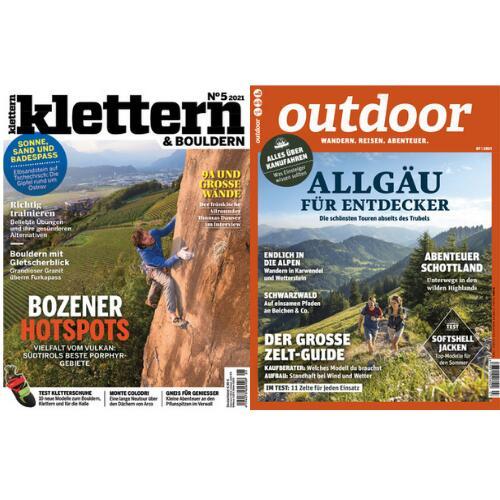 Klettern Abo für 54,90 € mit 40 € Amazon-Gutschein | Outdoor Abo für 67,90 mit einem 50 € Amazon-Gutschein (Kein Werber nötig)