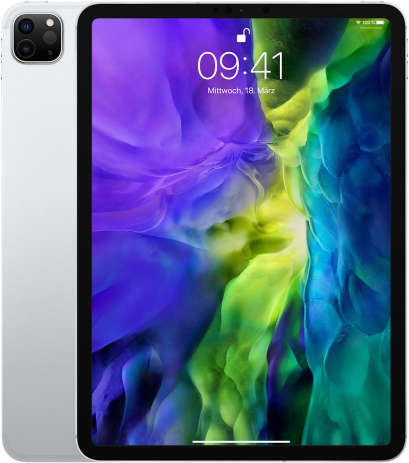 "[gebraucht] Apple iPad Pro 11"" (2020) Wi-Fi + Cellular 256GB silber (2388x1668, IPS, 120Hz, 600cd/m², A12Z, 12MP, USB-C, LTE, 28.65Wh, 473g)"