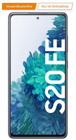 Samsung Galaxy S20 FE 8/256GB cloud navy im O2 All-In M 18GB bis 50Mbit/s für 19€ einmalig und 24,99€ monatlich