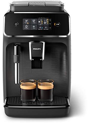 [Amazon.fr] Philips 2200 Serie EP2220/10 Kaffeevollautomat, 2 Kaffeespezialitäten, Schwarz/Schwarz-gebürstet