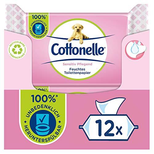 Amazon Prime: 12x Cottonelle sensitive feuchtes Toilettenpapier, je 42 Einzeltücher, damit kostet 1 Packung umgerechnet 84 Cent