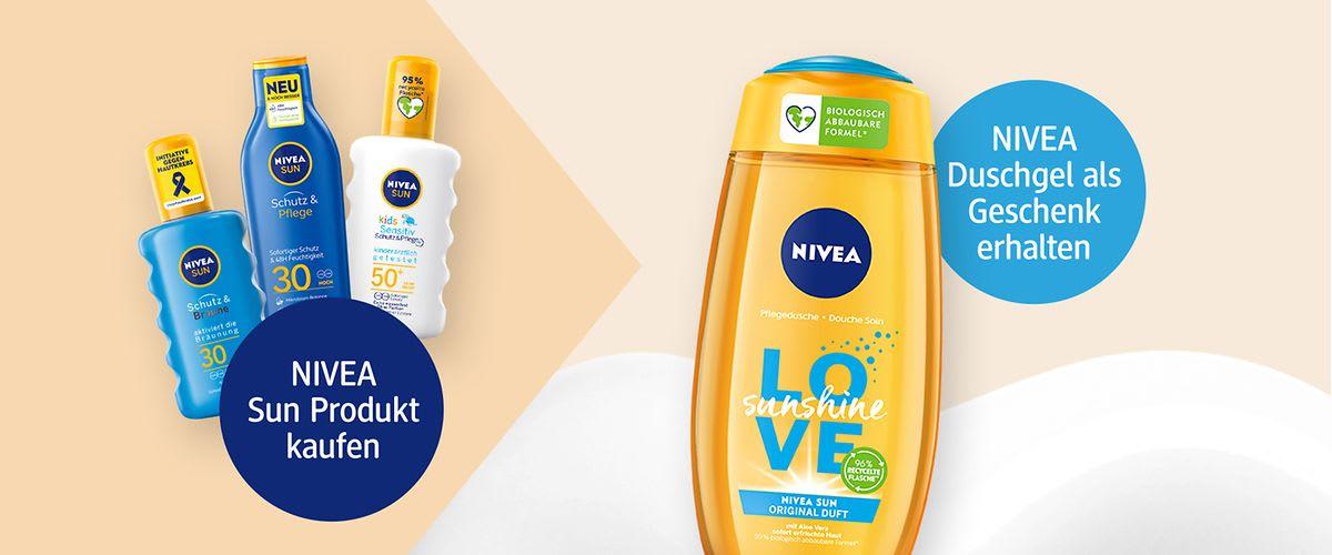 [dm] Nivea Sun kaufen und Duschgel gratis