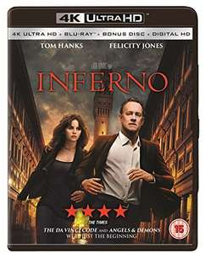 Inferno 4K UHD Blu-ray für 9,25€ inkl. Versand (Amazon prime)