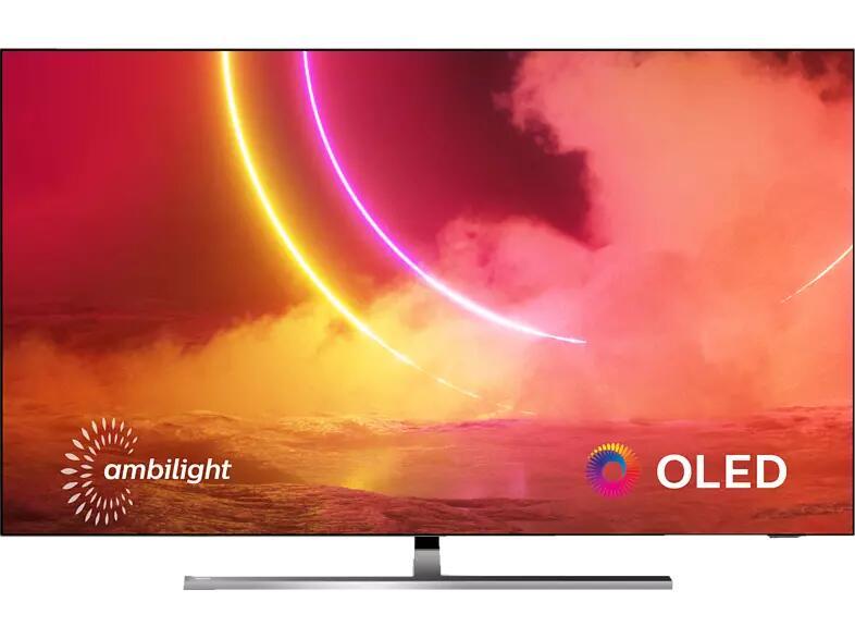 PHILIPS 55OLED855/12 OLED TV (Flat, 55 Zoll / 139 cm, OLED 4K, SMART TV, Ambilight, Android TV™ 9 (Pie))