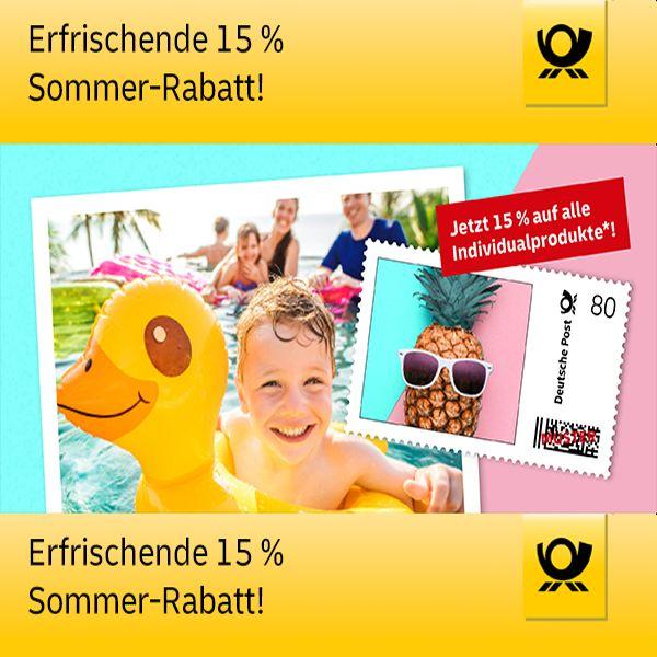 15% Rabatt* auf Individualprodukte @ Deutschen Post (Online-Shop)