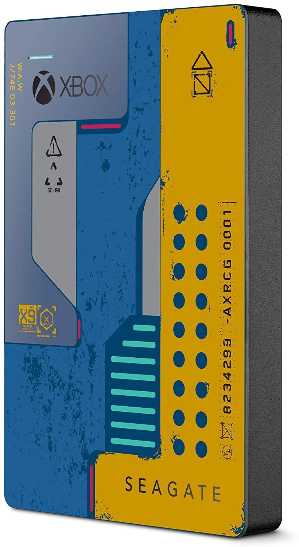 Seagate Game Drive Xbox CyberPunk 2077 Edition, tragbare externe Festplatte 2 TB, 2.5 Zoll, USB 3.0, Xbox, inkl. 2 Jahre Rescue