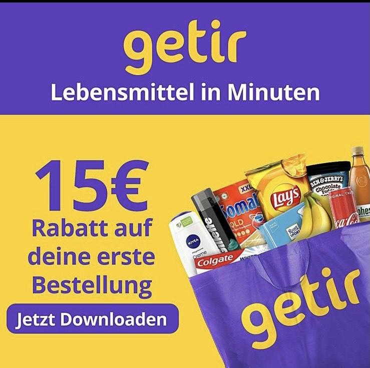 [LOKAL Berlin] GETIR Lebensmittel in 10min (15€ Gutschein ab 20€ MBW)