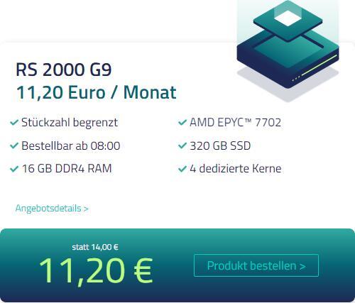 [ Netcup ] Root-Server 2000 G9 mit 20% Rabatt