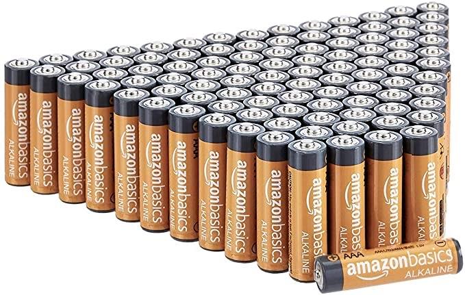100x Amazon Basics AAA-Alkali Batterien, Sparabo, leistungsstark, 1,5 V