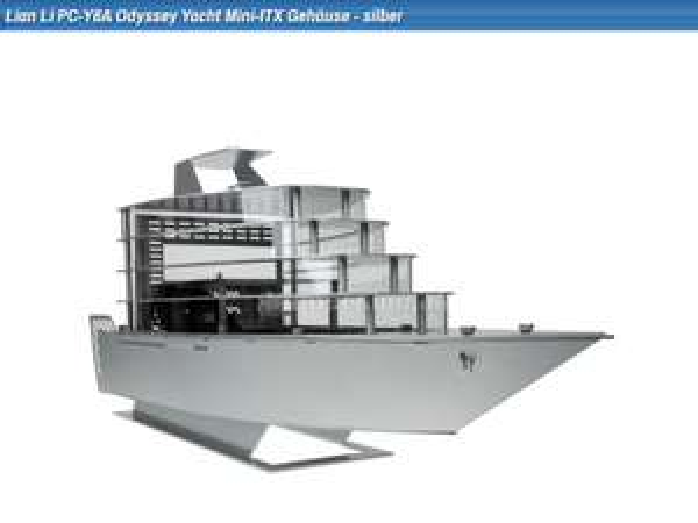 Lian Li PC-Y6A Odyssey Yacht Mini-ITX Gehäuse - silber (auf 500Stück weltweit limitiert!)
