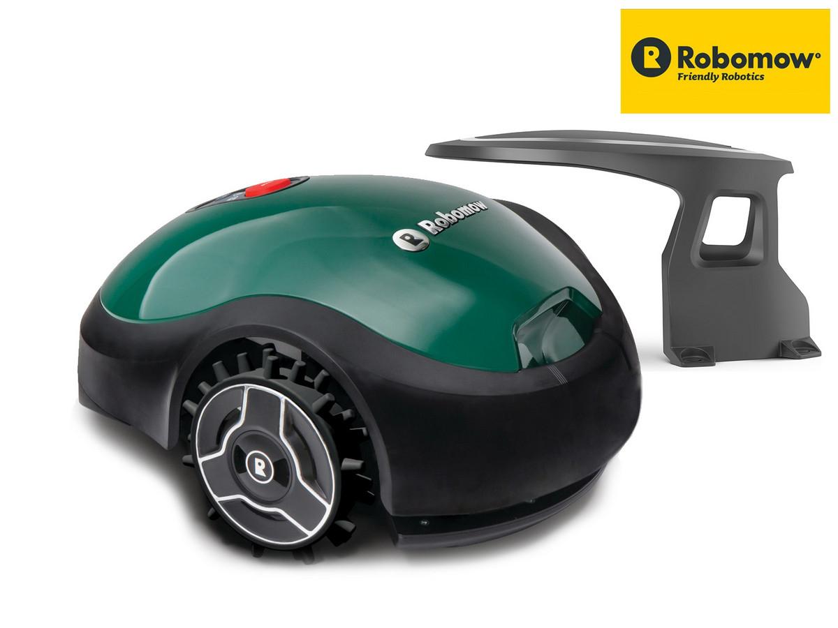 Robomow RX20u Mähroboter + Robohome Ladestation-Überdachung (~200m² Rasenfläche, 120min Akku, 15-45mm, Drahtbegrenzung, App-Steuerung)