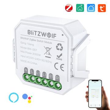ZigBee 3.0 Schalter-Modul BlitzWolf BW-SS7 (1 Phase, 2 Anschlüsse)