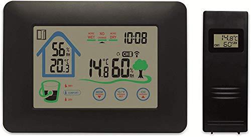 [Prime] Denver WS-520 Drahtlose Wetterstation, Hygrometer für Innen-, Außentemperatur und Luftfeuchtigkeit, Relais-Funktion
