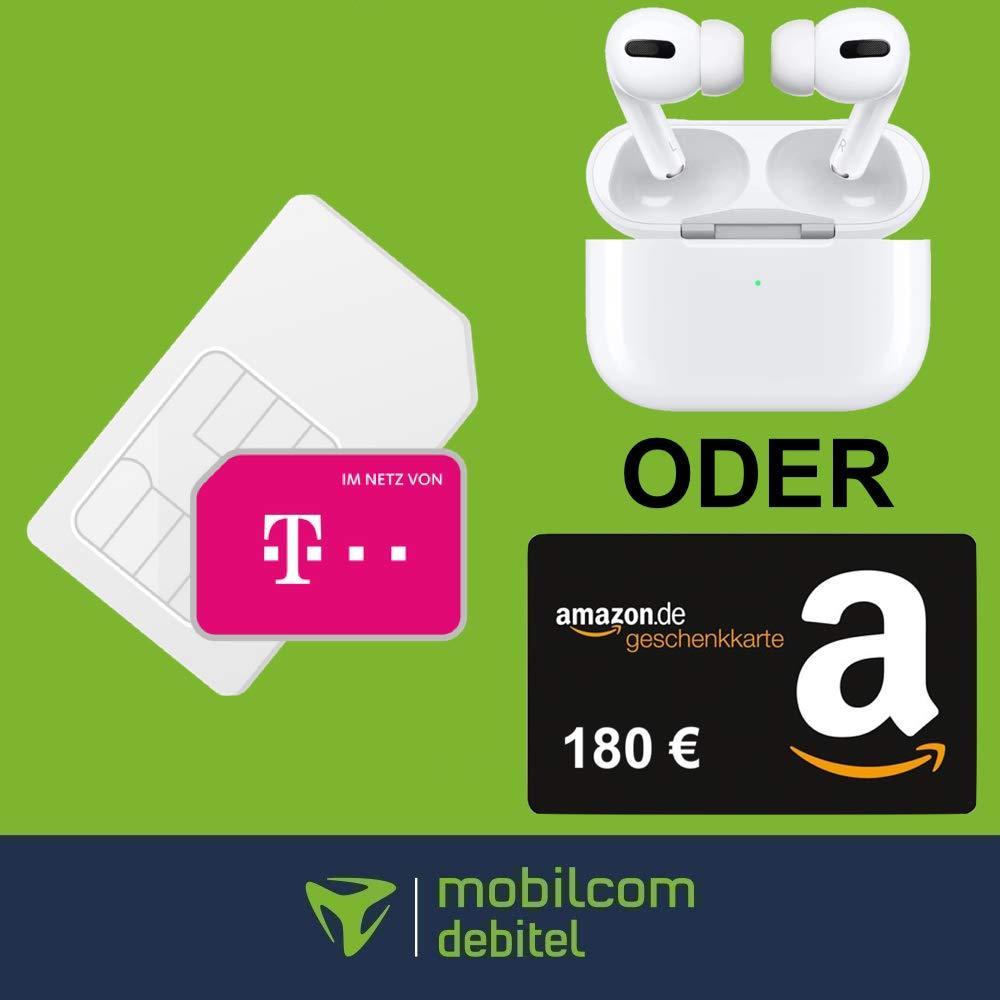 25GB LTE mobilcom-debitel Telekom green Data XL für mtl. 19,99€ + 0€ AG mit 180€ Amazon Gutschein (eff. 12,49€) od. AirPods Pro für 4,95€ ZZ