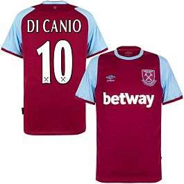 Umbro West Ham Home Di Canio 10 Trikot 2020-2021 (Retro Flex Beflockung) (Alle Größen)