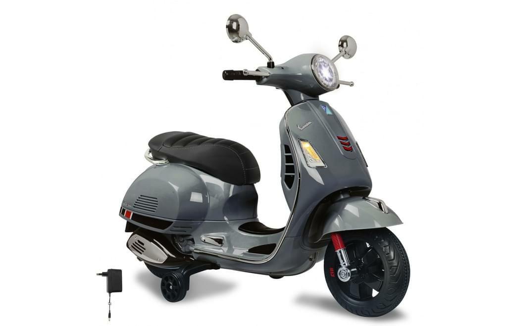 JAMARA Kinder Elektro-Roller 12V, Ride-on Vespa, mit Stützrädern in grau [Kaufland]