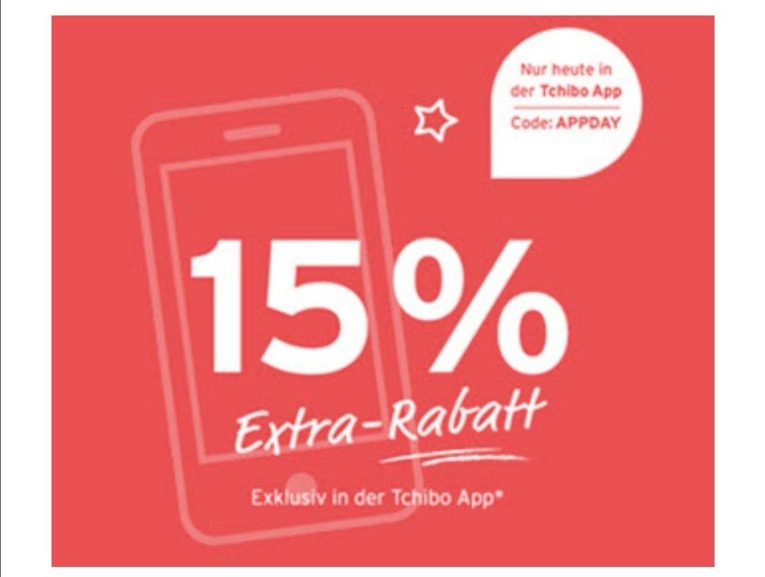 15% Rabatt in der App bei Tchibo auf das Aktionssortiment