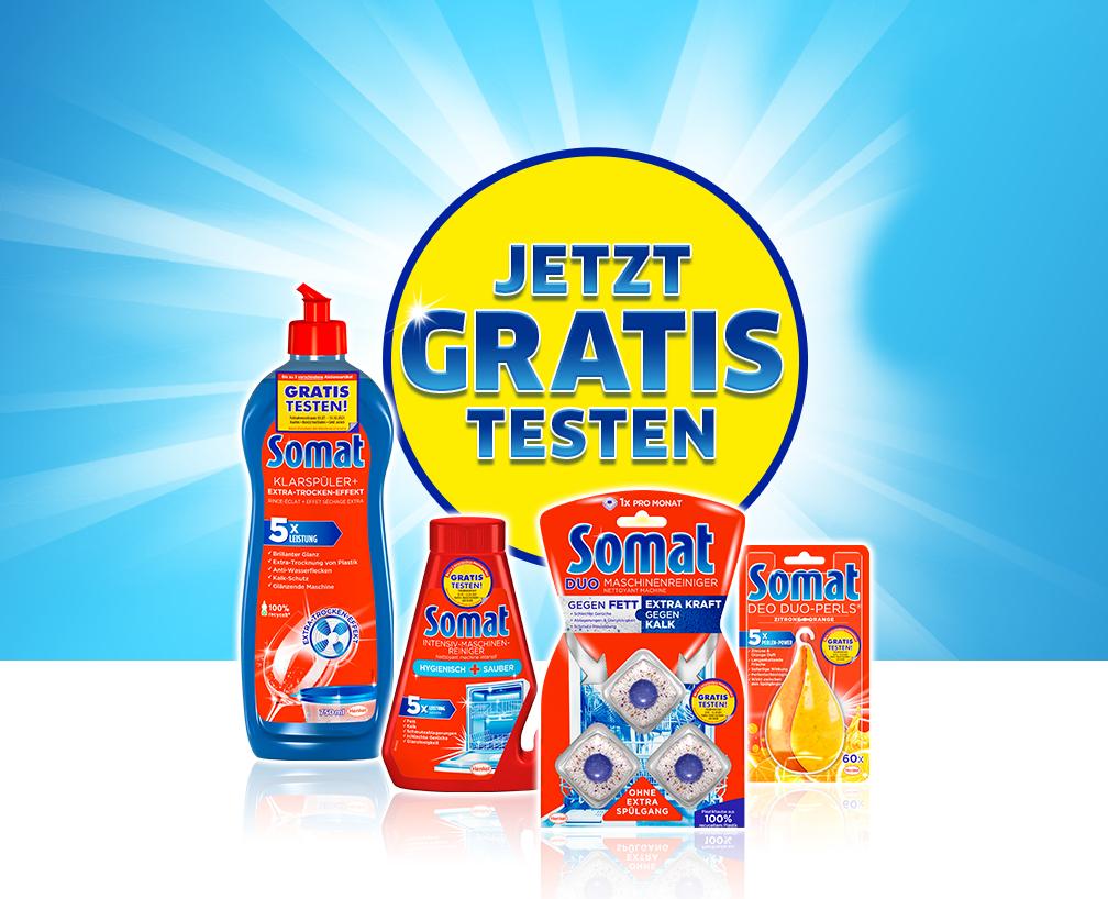 [GzG] Somat Zusatzprodukte bis zu 3 verschiedene Artikel gratis testen