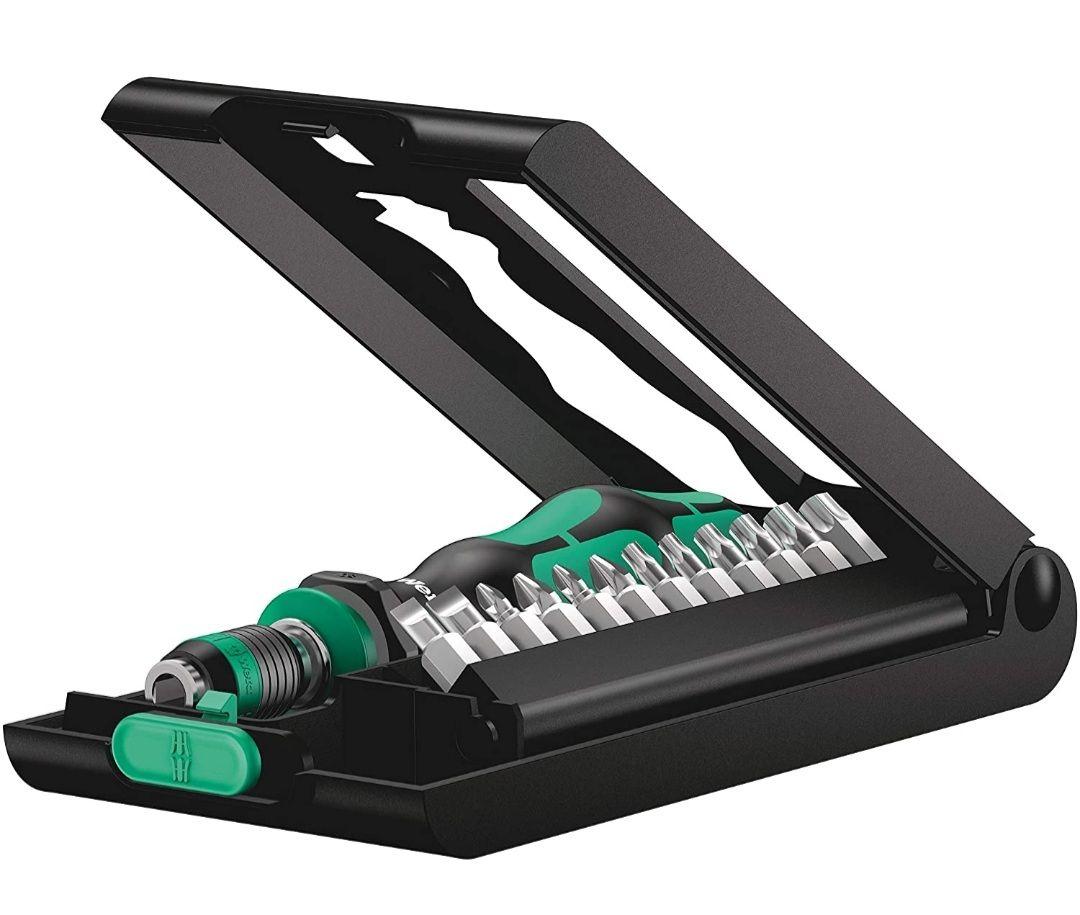 Wera 05056656001 Kraftform Kompakt 50, Handhalter mit Bit-Sortiment, 14-teilig, Stück (Prime)