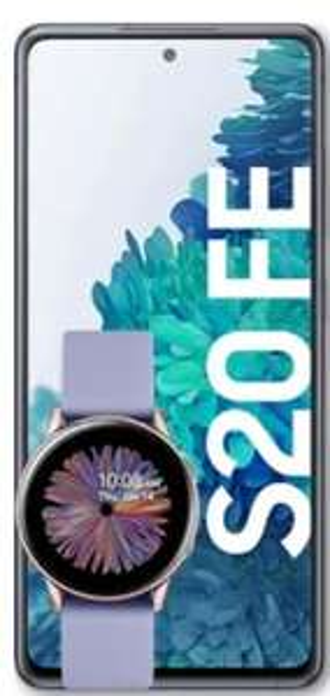 Samsung Galaxy S20 FE LTE 6/128GB + GALAXY WATCH ACTIVE 2 für 29€ einmalig und 22,99€ monatlich im Vodafone Otelo Allnet Flat 5GB LTE + 20€