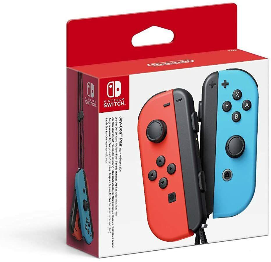 Nintendo Joy-Con 2er-Set Neon-Rot/Neon-Blau (Amazon.es)