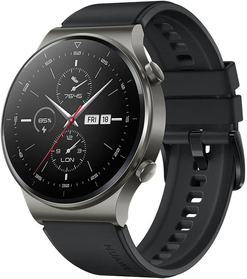 "Huawei Watch GT 2 Pro Smartwatch 1,39"" AMOLED (2 Wo. Akku, GPS & GLONASS, SpO2, >100 Modi, Bluetooth, Herzfrequenz) Schwarz oder Grau"