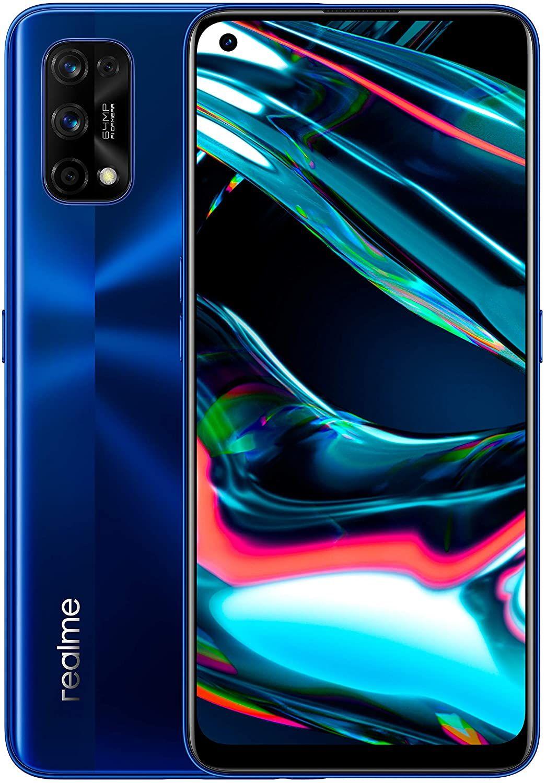 """Realme 7 Pro 6,4"""" FHD+ AMOLED 8/128GB (4.500 mAh, Snapdragon 720, 290K Antutu, 64MP Quad-Cam, USB-C, NFC, Dual-SIM) Blau oder Silber"""