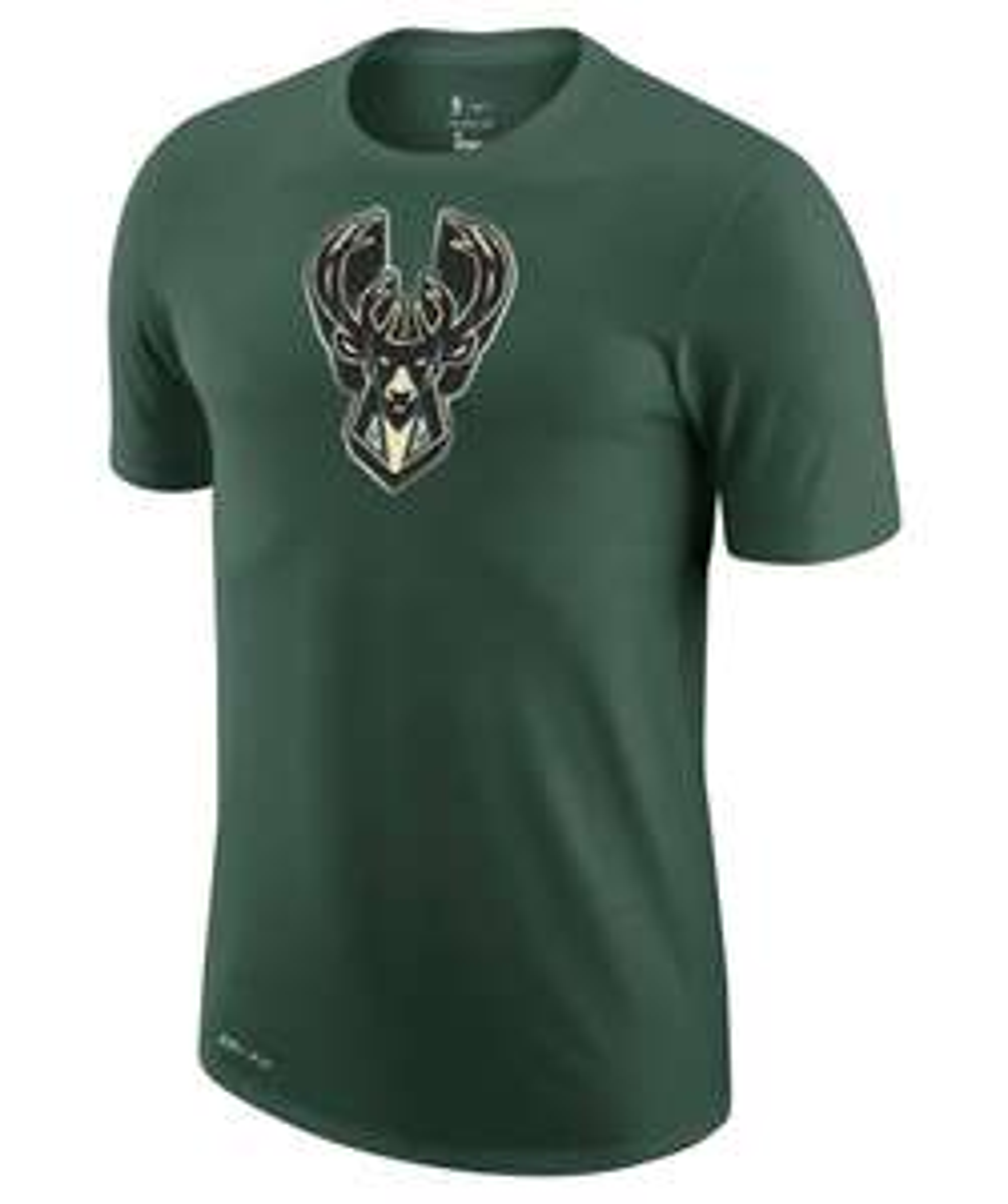 Nike Performance Herren T-Shirt ″NBA Milwaukee Bucks Earned Edition″ olive