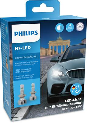Philips Ultinon Pro6000 H7 LED 11972X2 LED mit Straßenzulassung ** 12V +230%*