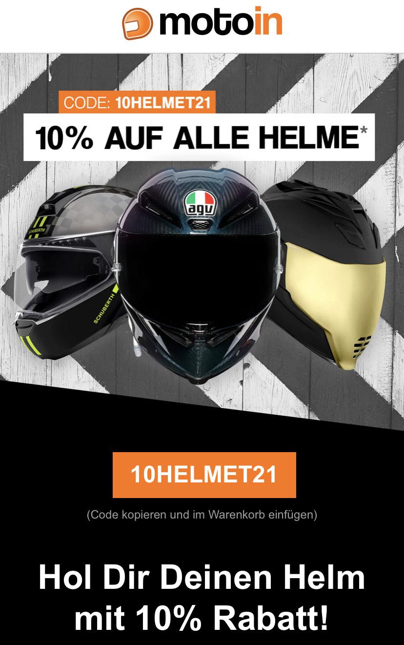 Motoin - 10% auf alle Helme