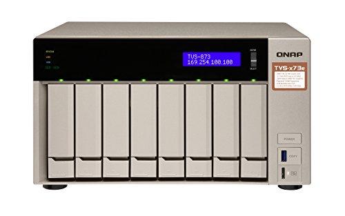 [Amazon / NBB] QNAP TVS-873e-4G, AMD RX-421 BD Quad-Core APU NAS-System, PCIe, HDMI 4K@ 30Hz-Ausgang, 4K H.264-Videodekodierung, grau