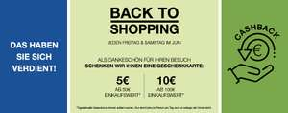 (Lokal)Bochum Ruhrpark 10€ Cashback bei 100€ und 5€ bei 50€ Einkaufswert