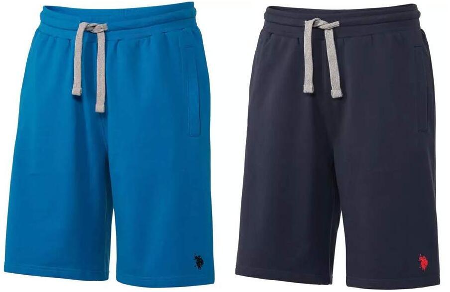2x US POLO Herren Sweatbermuda-Shorts (Gr. L - 4XL, 3 verschiedene Farben)