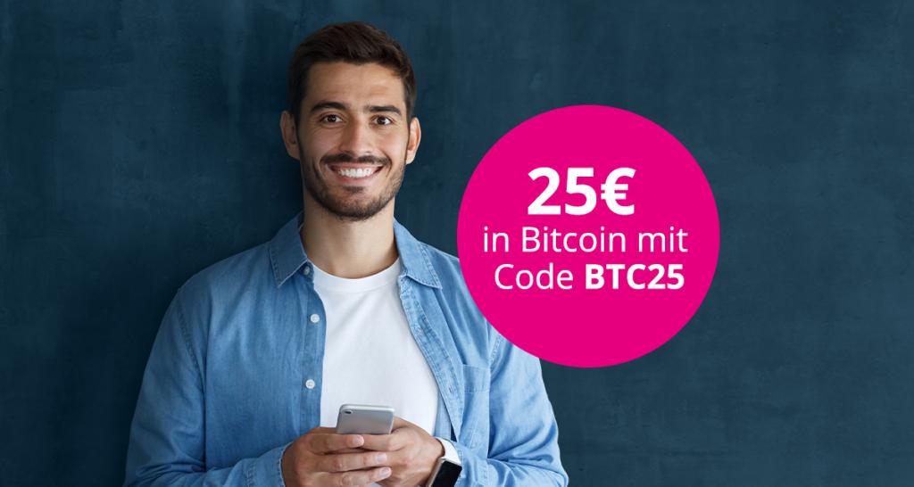 25€ in Bitcoin bei Neuanmeldung