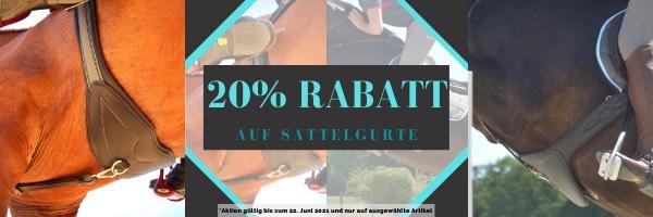 20% Rabatt auf ausgewählte Sattelgurte