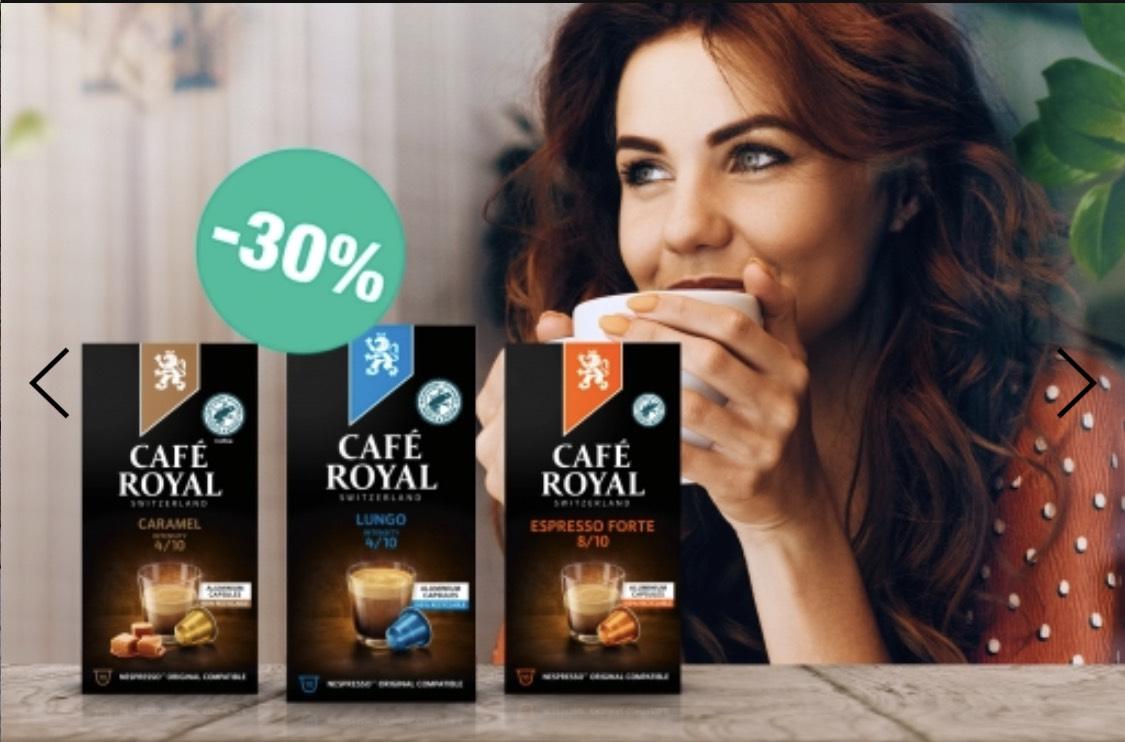 Café Royal 30% auf Nespresso Kapsel
