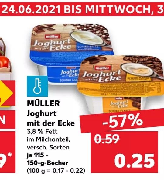 [Kaufland] Müller Joghurt mit der Ecke