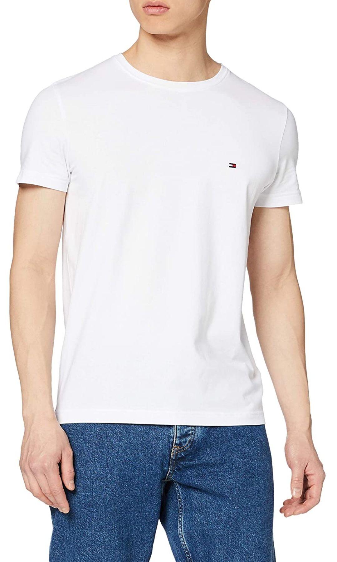 Tommy Hilfiger Herren Core Stretch Slim T-Shirt bei Amazon Prime