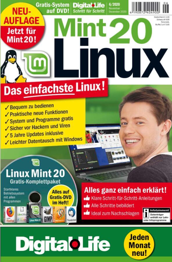 DigitalLife Schritt für Schritt - Linux Mint 20 Magazin kostenlos als PDF im Download