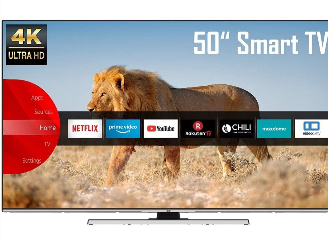 50 Zoll Fernseher JVC LT-50VU8055 (4K Ultra HD, HDR, Triple Tuner, Smart TV, Bluetooth, Alexa)