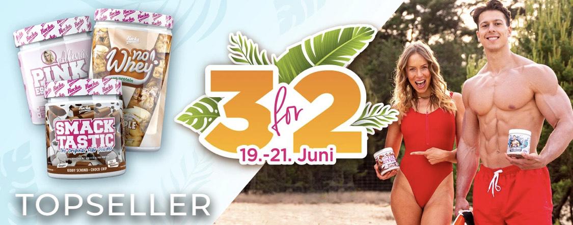 Große Rocka Nutrition Sommeraktion 3 für 2