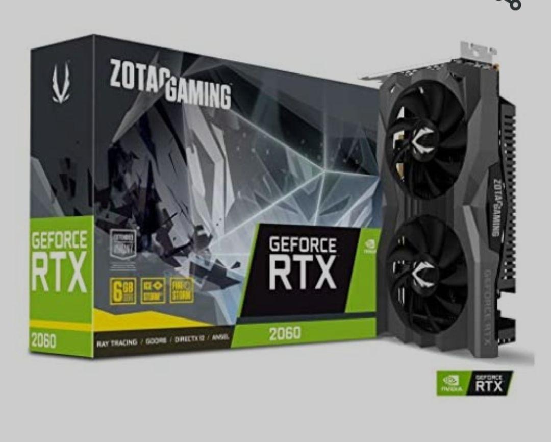 Zotac RTX 2060, 6B GDDR6, 3x DP, 1x HDMI
