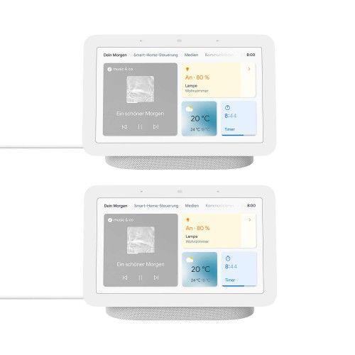 Google Nest Hub (2. Generation) 2er-Pack - Smart Display mit Sprachsteuerung
