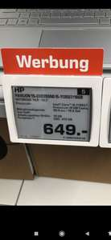 "[LOKAL Saturn Karlsruhe Kaiserstraße Wiedereröffnung] HP Notebook 15"", I5, 16GB RAM, 512GB SSD,"