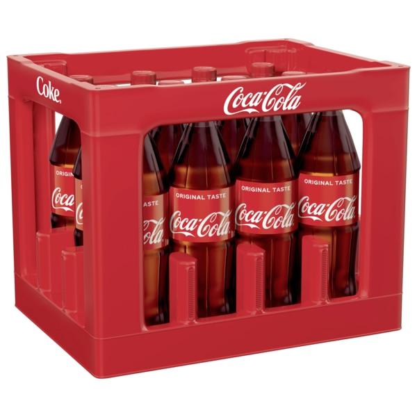 Tegut: Coca-Cola Kombikiste 12 Flaschen mit je 1 Liter Inhalt, Sorten frei wählbar, Literpreis liegt 67Cent