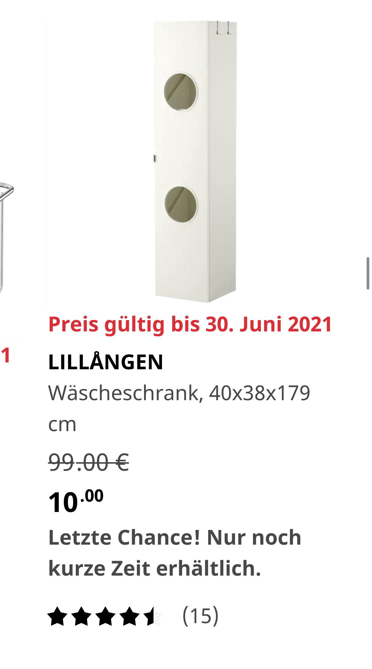 Ikea Berlin Spandau Wäscheschrank LILLÅNGEN 10€ statt 99€