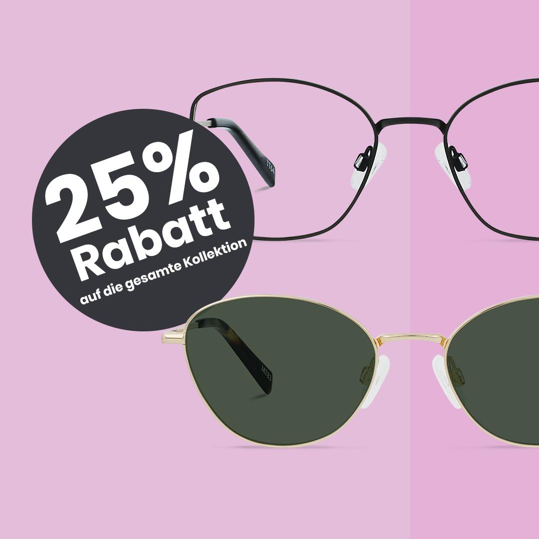 25% Rabatt auf das gesamte Sortiment bei Charlie Temple Brillen