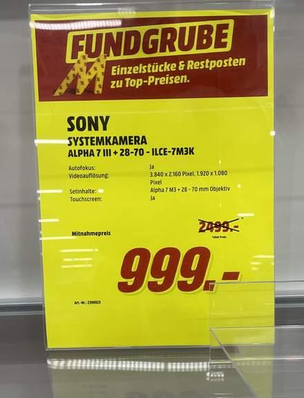 Sony A7 III & FE28-70- Lokal Mediamarkt Ansbach