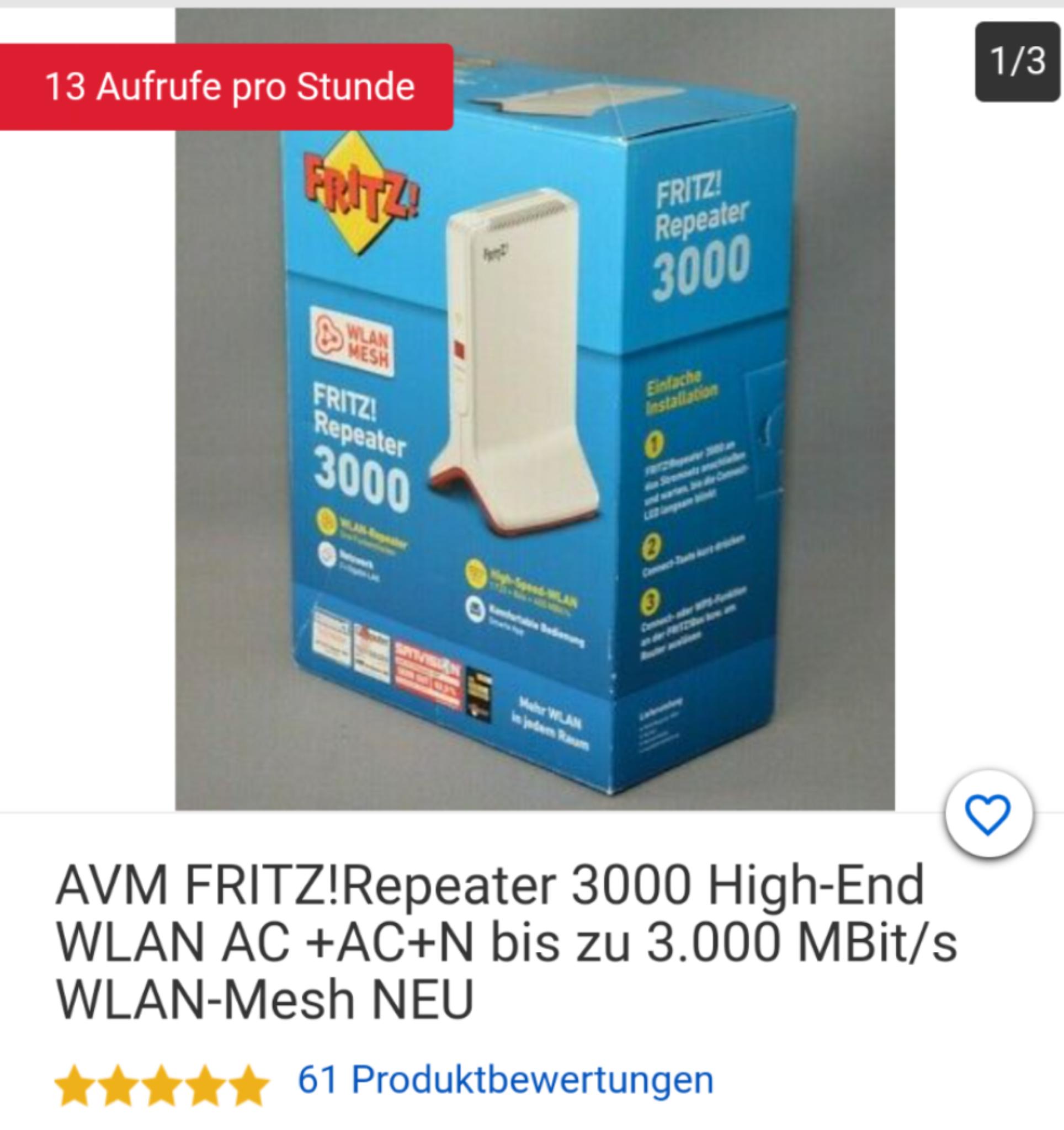 Fritz WLAN repeater 3000